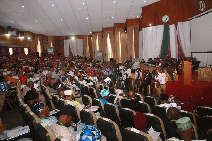 Section view of the sitting at tghe confab