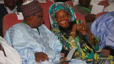 Senator Jubril Aminu, one of the most elderly, left chats with Prof Dora Akunyili, former NAFDAC boss