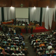 Top view of the confab hall