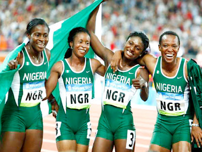 Nigeria women 4x100 London Olympics
