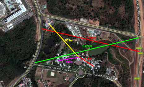 Distances in Aso Rock - Google Maps