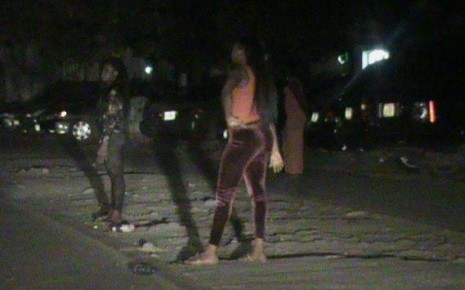 While the atrocities against 'innocent' women continue, Abuja streets are flooded with prostitutes. this picture was taken on Friday, 6 February 2014.